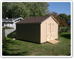 10 x 12 building, doors on the gable side