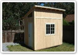8 x 12 Reverse Lean-to, 8ft to 10ft walls