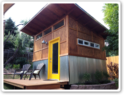 10 x 12 Reverse Lean-To, with Metal Siding and 6x12 deck