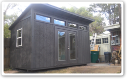 10 x 16 Reverse Lean-To with French Doors