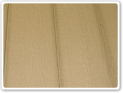 Standard 3/8in. osb type plywood siding.