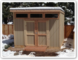 8 x 12 Reverse Lean-to, 3 high windows