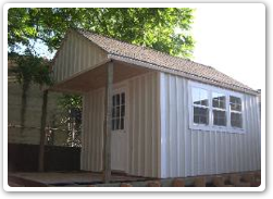 10 x 12 Gable shed, with enclosed loft over porch