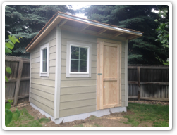 8 x10 Reverse Lean-To on concrete pad
